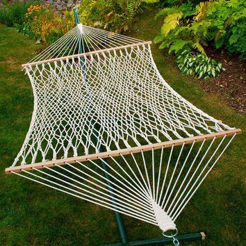 2-Point Double Size Cotton Rope Hammock