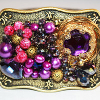 Women's Belt Buckle - Jeweled Belt Buckle - Bling Belt Buckle - Ladies Belt Buckle - Western Belt Buckle