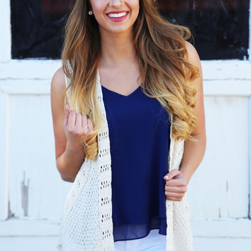 Throw On & Go Sleeveless Knit Cardi