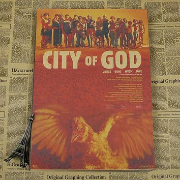 City of God Movie Poster Anime Fashion Decoration Painting Wallpaper /wall sticker /kraft poster