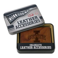 Iowa State Cyclones Leather Trifold Wallet (Brown)