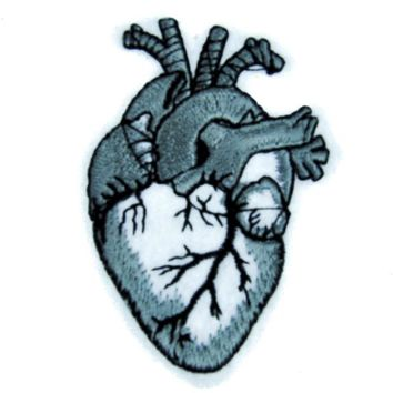 ac spbest Anatomical Human Heart Patch Iron on Applique Occult Clothing