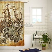 Kraken Steampunk Octopus High Quality Bathroom Shower Curtain 60x72 Inch