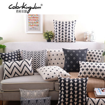 Retro Decorative Pillow black and white geometric Home Decoration Pillow creative abstraction Decorative Throw Pillows