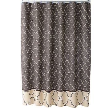 One Home Atrium Fabric Shower Curtain