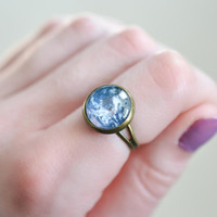 Planet Earth Ring, Earth Jewelry, Mother Earth RIng, World Ring, Space Ring, Bohemian RIng,