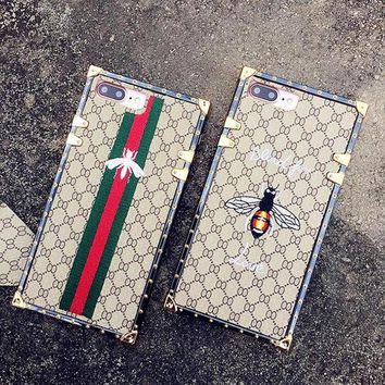 Perfect Gucci Fashion Personality Bee iPhone Phone Cover Case For iphone 6 6s 6plus 6s-plus 7 7plus