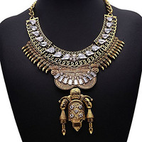 Girl Era Egypt Totem Hot Fashion Retro Jewelry Pendant Good Bib Temperament Necklace(gold)