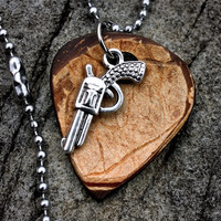 Guitar Pick Pistol Necklace