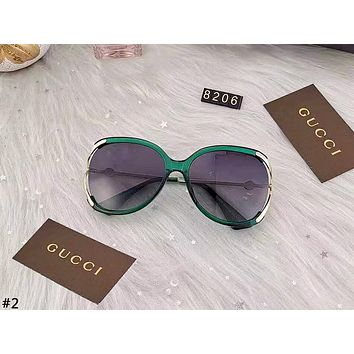 GUCCI 2019 new wild anti-UV color film polarized sunglasses #2
