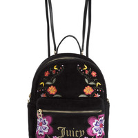 FOLKLORE FLORAL VELOUR BACKPACK
