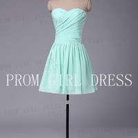 A-line Sweetheart Knee-length Chiffon Bridesmaid/Evening/Prom Dress