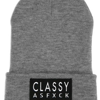 Classy Brand CLASSY AS FXCK BEANIE : Karmaloop.com - Global Concrete Culture