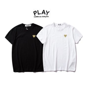 Play Stylish Couple Short Sleeve T-shirts [1840848338995]