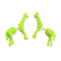 Neon Giraffe Earrings Multi