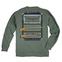 Seasons of Hunting Long Sleeve Tee in Light Green by Fripp & Folly - FINAL SALE