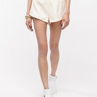 Base Range Cut Out Shorts in Off White
