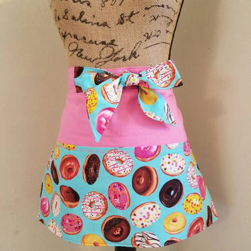Diner - waitress - donuts - donut - shop - coffee - shop - pinup - rockabilly - 50's - retro - vintage - style - half - apron - w/ - pockets