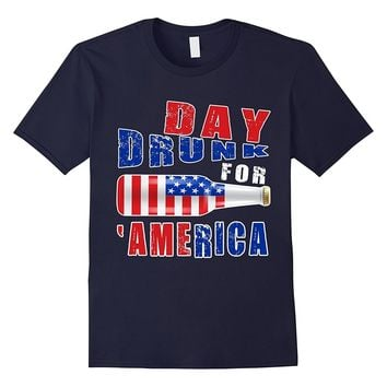 Funny Day Drunk In America T Shirt Independence Day Gift