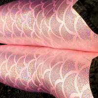 Pink Mermaid Leggings Punk Rock Metallic Fish Scale Leggings Women Yoga Workout Fitness Running Steampunk Holographic Leggings