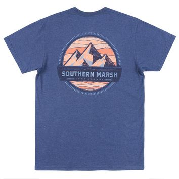 Branding Collection - Summit Tee in Washed Navy by Southern Marsh