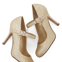 ModCloth Luxe Yes I Candescent Heel in Gold