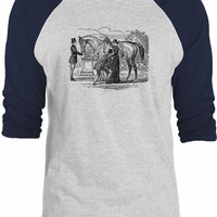 Big Texas 19th Century Horse 3/4-Sleeve Raglan Baseball T-Shirt