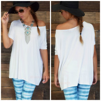 Boyfriend Piko Short Sleeve White