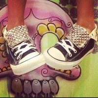 Studded Converse All Star High Tops - Custom Chuck Taylors - ALL SIZES & COLORS!!