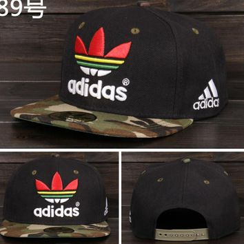 Adidas Performance Max Side Hit Baseball Cap Golf Hat Relaxed Fit Black camouflage rainbow logo