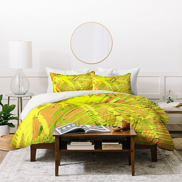 Rosie Brown Orange Palms Duvet Cover