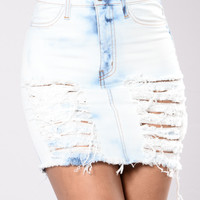 Hot Headed Believer Skirt - Light