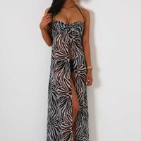 Pool Party Monochrome Maxi Dress - New In | Pink Boutique
