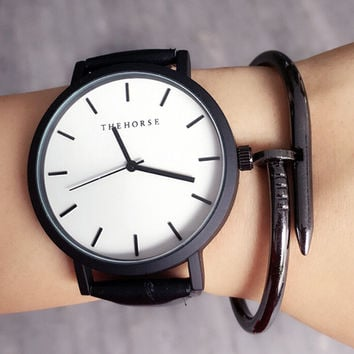 High-quality Men Women Classic Leather Watch Lover Watches + Christmas Box-70