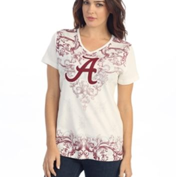 Alabama Ladies Ivory Victorian Shirt | Alabama Ladies Shirt | Alabama Ladies Apparel