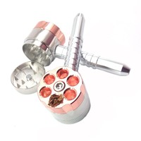 1Pcs Metal Dual Use Pipes Weed Grinder Smoking Pipe Smok Tobacco Pipe Herb Grinder Grinder Tobacco Crusher Mouthpiece