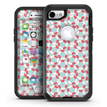 The All Over Mint Life Float Pattern - iPhone 7 or 7 Plus OtterBox Defender Case Skin Decal Kit
