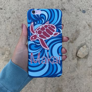 Blue Tsunami iPhone Case
