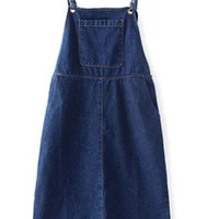 Navy Overall Denim With Pocket