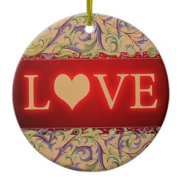 Love Ceramic Ornament