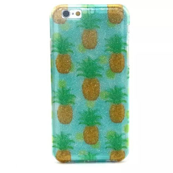 Pineapple Twinkle Silicagel Case Cover for iPhone & Samsung Galaxy