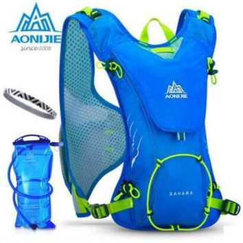 ESBONHS AONIJIE Outdoor Trail Running Marathon Hydration Backpack Lightweight  Hiking Bag With+ 1.5L Hydration Water Bag for Men Women