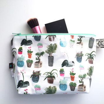 House Plants Flat Bottom Pouch Small (handmade philosophy's pattern)