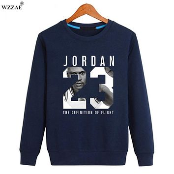 WZZAE 2017 Brand New Design Jordan 23 Men Sweatshirt fashion casual high quality Men Knitting Hoody Assassins Creed Men Hoodies