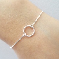 Tiny, All, Golefilled/ Sterling Silver, Karma, Bracelet, Small, Minimal, Jewelry, Gift