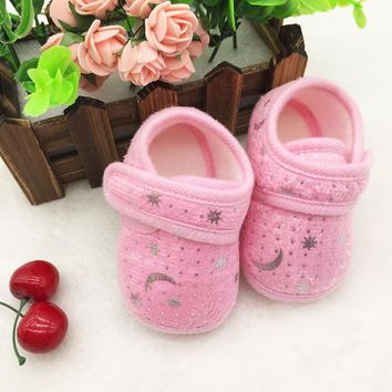 Starry Sky Printed Toddler Anti-Slip Soft Baby Shoes
