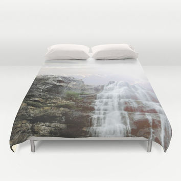 Art Duvet Cover Majestic Fall photography home decor photograph Nature photo bedding full queen king ethereal light shabby chic bedroom