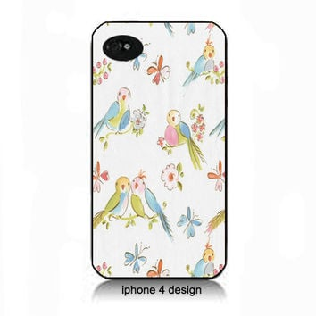 Love bird  iphone 4 cell phone accessory case, Iphone case, Iphone 4s case, Iphone 4 cover, i phone case, i phone 4s case