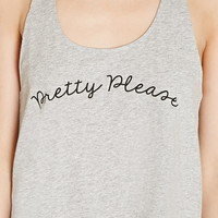 Pretty Please Graphic Crop Top | Forever 21 - 2000205341