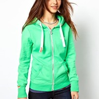 Superdry Orange Label Zip Through Hoodie in Hot Mint at asos.com